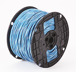 Alan Wire 16AWG MTW Blue with White Stripe, 2500ft. | French Gerleman