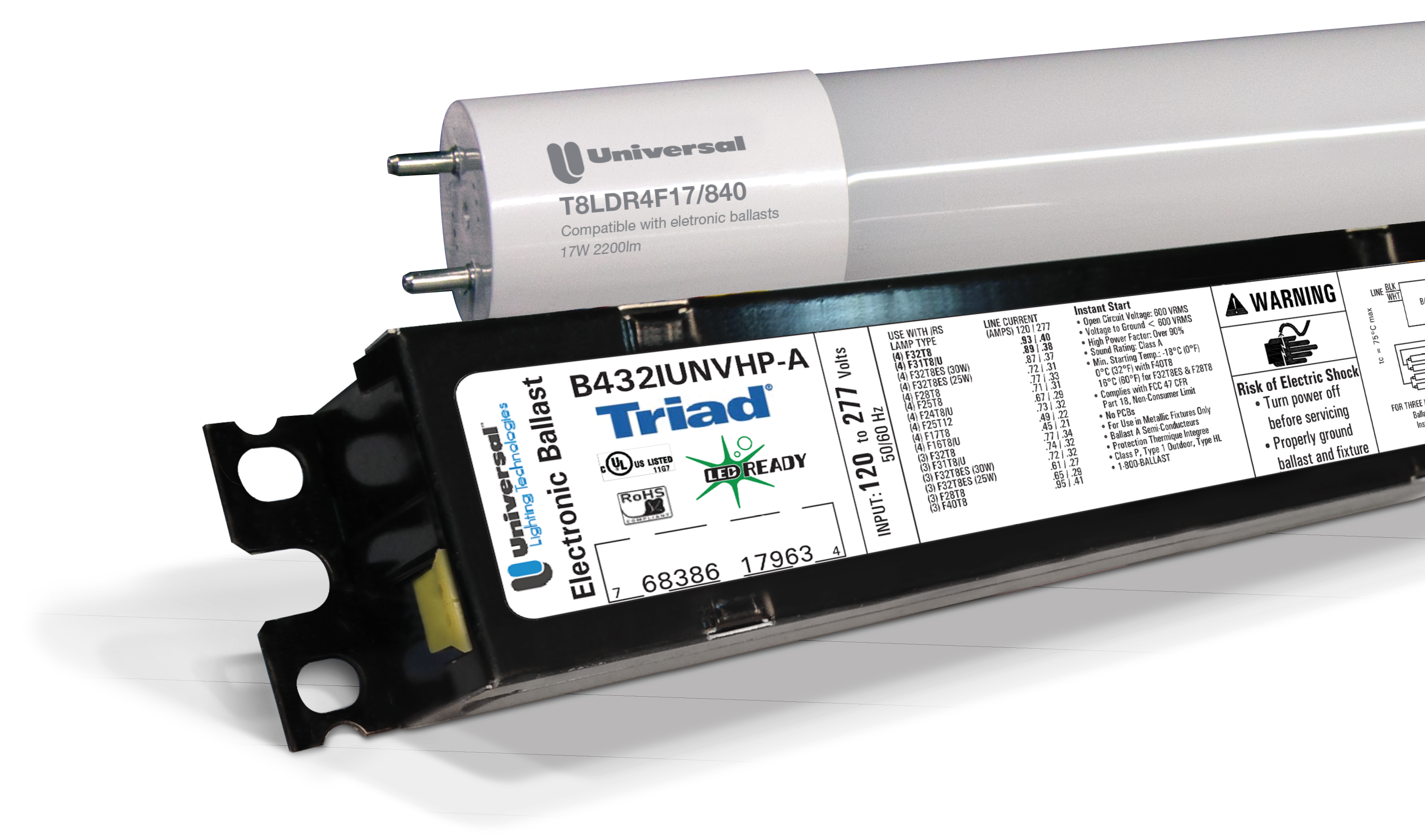 Program Start Electronic Fluorescent 120 To 277 Volt Ballast With Step
