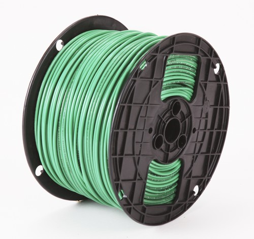 Alan Wire10AWG MTW Green, 500ft.